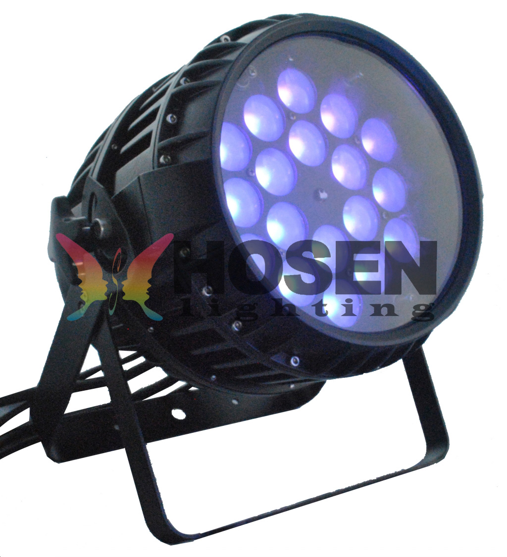 NEW Arrival 18pcs*18W 6in1 RGBAW+UV Zoom outdoor LED Par Can HS-P1818Z
