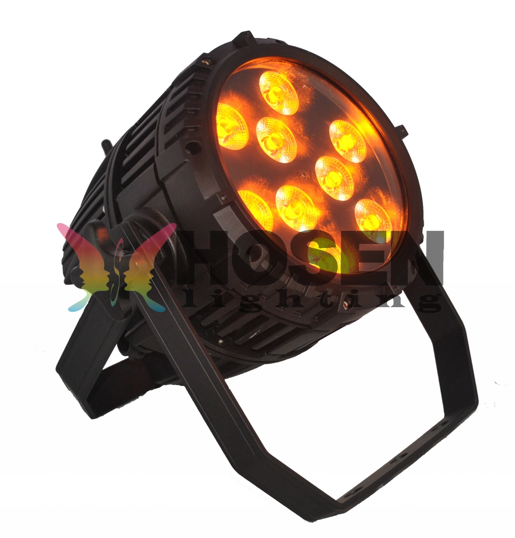 NEW Arrival 9pcs*15W 5in1 RGBAW Battery  Wireless outdoor LED Par Can HS-P0915WLBOOUT​