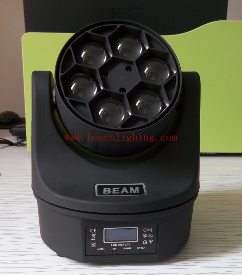 6pcs 12W 4in1 mini bee eye led moving head light HS-LMW0612BE