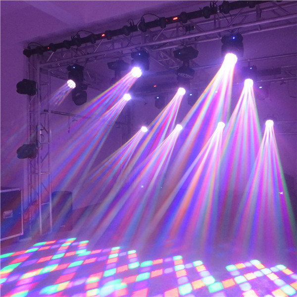 Newest design 12X10W led spread angle beam moving head  HS-LBM1210SA